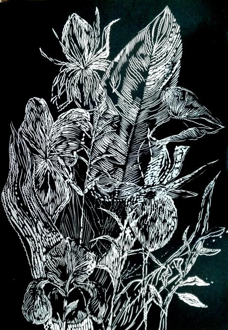 Black leaves II by Magdalena Chmielek