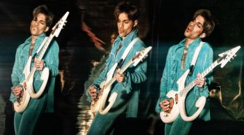 Prince - triptych with Love Symbol guitar by Steve Parke