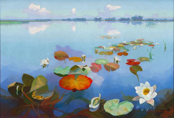 Water-Lillies De Loosdrechtse Plassen by Dirk Smorenberg
