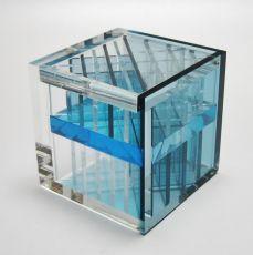 Diagonaal transparant - blauw