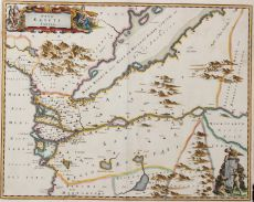 MAP OF EGYPT AND THE GULF    by Blaeu, Joan