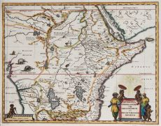 MAP OF ABISSINIA    by Blaeu, Joan