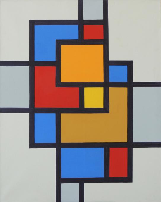 Compositie 48 by Siep van den Berg