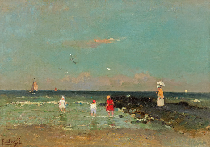 At the Beach by Pericles Pantazis