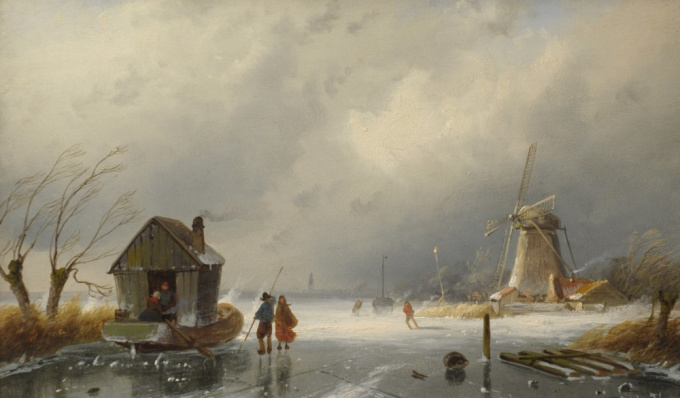 Upcoming snow-storm by Charles Leickert
