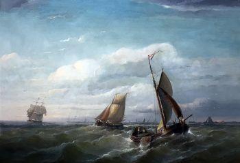 Marine by Christiaan Cornelis Kannemans