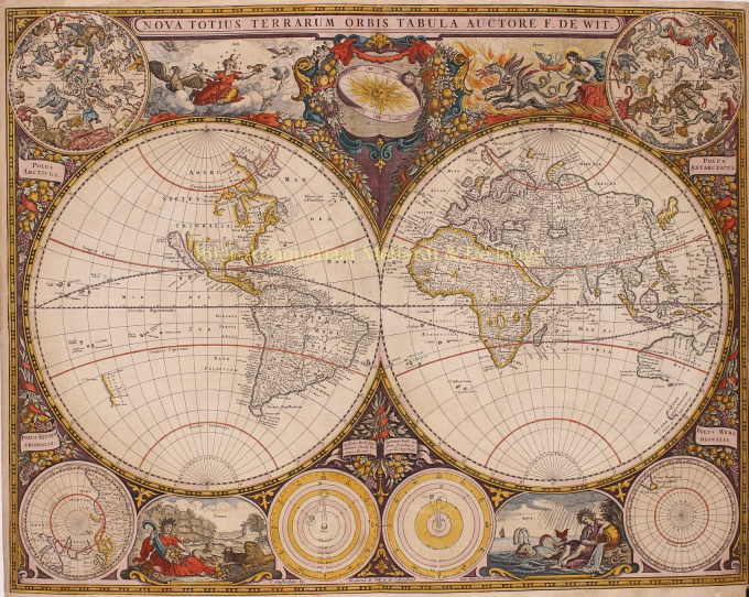 World Map  by Frederick de Wit