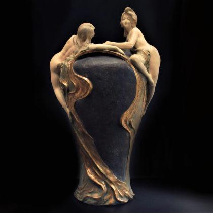 Art Nouveau Vase by Evrard .