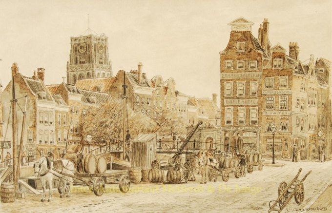 Wezenbrug Rotterdam by Eugène Rensburg