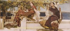 THE CONVERSION OF PAULA BY ST. JEROME  by Lawrence Alma-Tadema